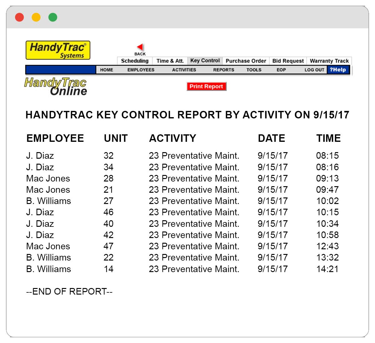 HandyTrac Key Control